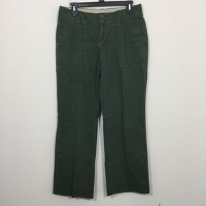 Banana Republic Size 4 Green Stretch Pants